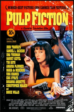 Free-Shipping-Custom-Poster-Nice-Bedroom-Decor-Fashion-Wall-Sticker-Well-Design-Classic-Movie-pulp-fiction